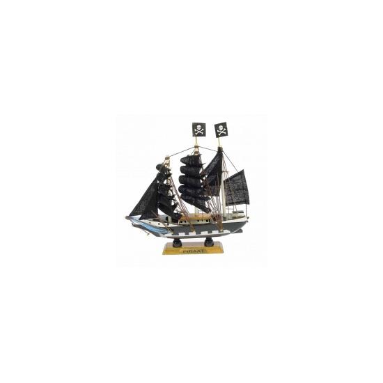 Schaalmodel piratenschip 16 cm (bron: Feestwinkel Fun en Feest)