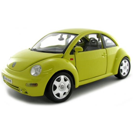 Schaalmodel Volkswagen Beetle geel (bron: Feestwinkel Fun en Feest)