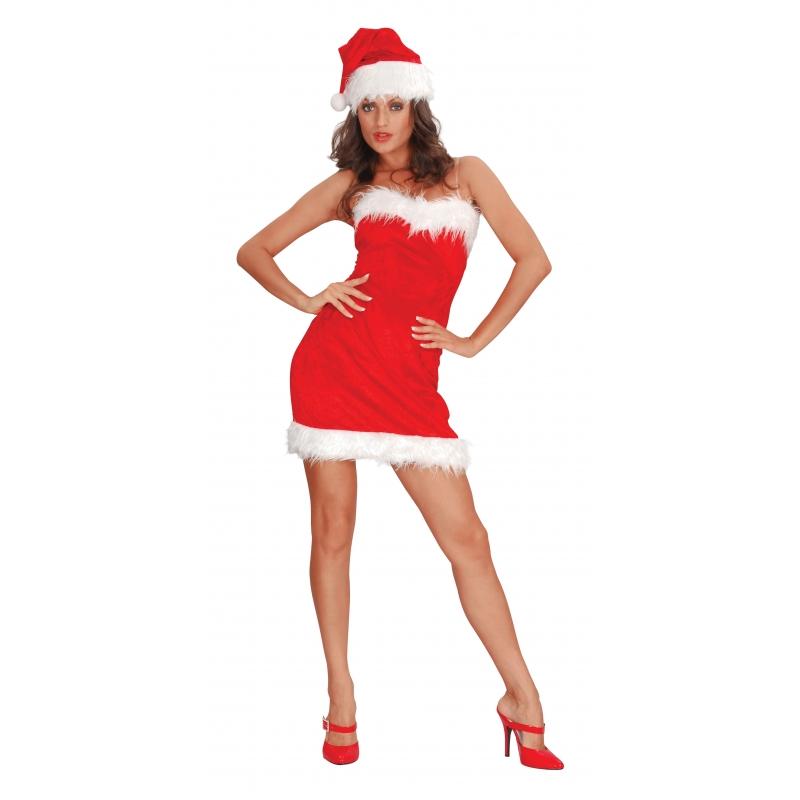 Sexy santa jurkje voor dames (bron: Feestwinkel Fun en Feest)