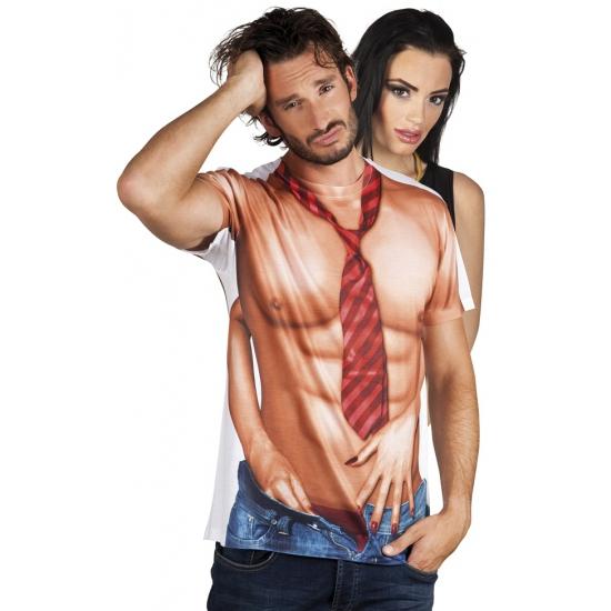 Shirt met naakte man opdruk (bron: Feestwinkel Fun en Feest)