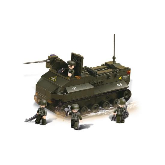 Sluban bouwstenen pantservoertuig (bron: Feestwinkel Fun en Feest)