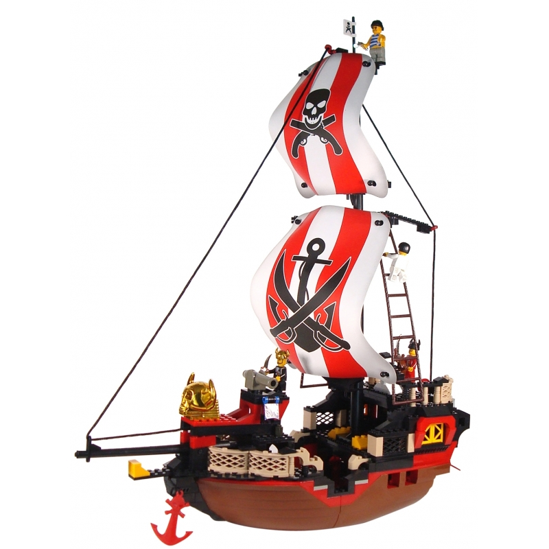 Sluban groot piratenschip bouwstenen set