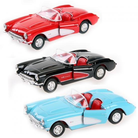 Speelgoed auto Chevrolet Corvette 1957 cabrio (bron: Feestwinkel Fun en Feest)