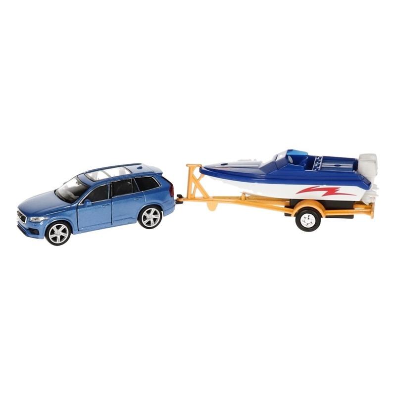 WellySpeelgoed BMW met boot op aanhanger