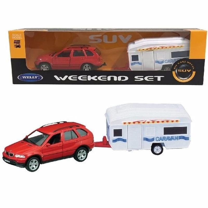 WellySpeelgoed BMW met caravan 1