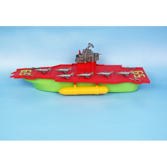 Speelgoed vliegdekboot (bron: Feestwinkel Fun en Feest)