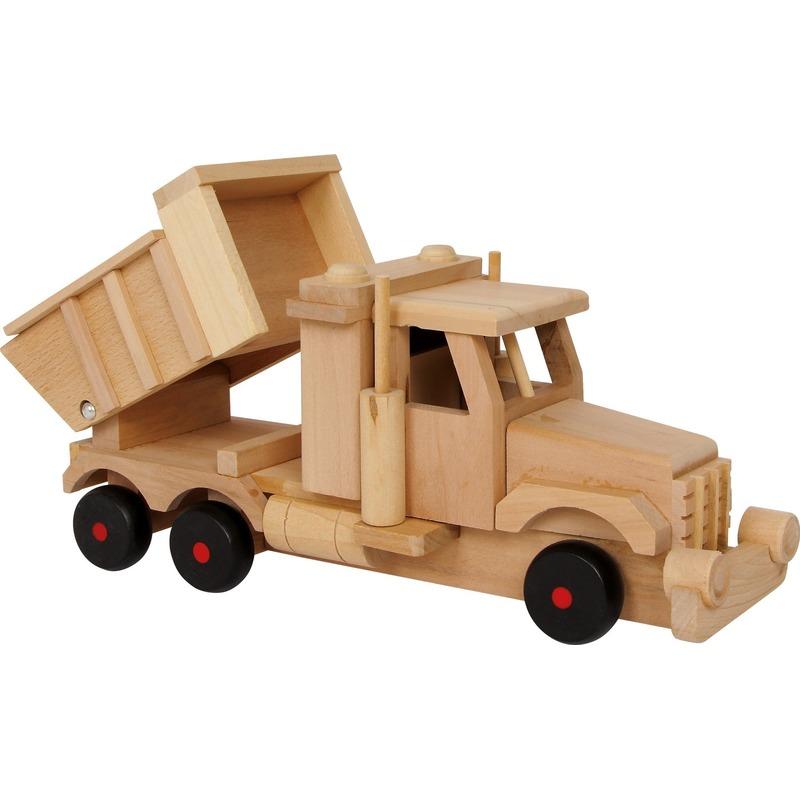 Speelgoed zandwagen van hout