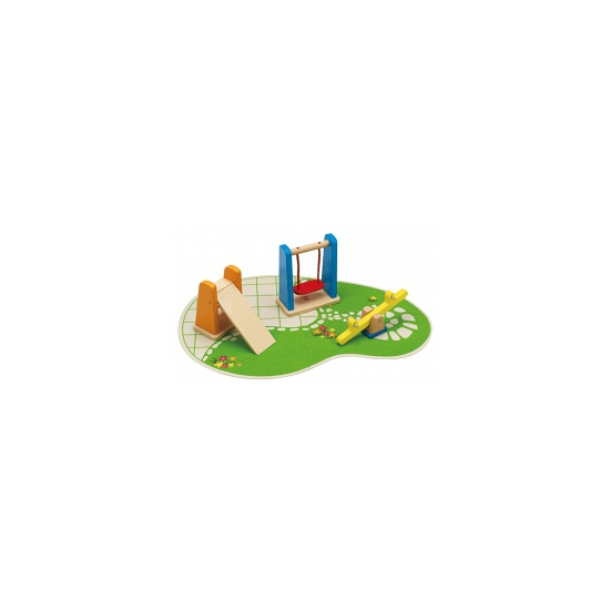 Speeltuintje voor poppenhuis 7 delig