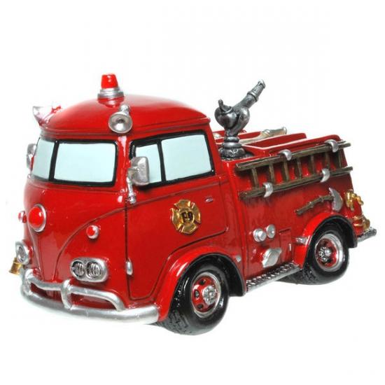 Stenen spaarpot brandweerauto (bron: Feestwinkel Fun en Feest)