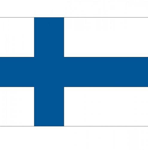 Stickertjes van vlag van Finland (bron: Feestwinkel Fun en Feest)