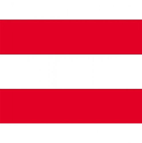 Stickertjes van vlag van Oostenrijk (bron: Feestwinkel Fun en Feest)