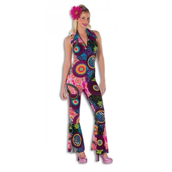 Strakke disco jumpsuit voor dames (bron: Feestwinkel Fun en Feest)