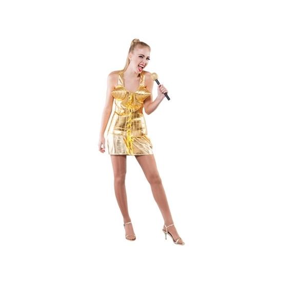 Supersterren outfit goud voor dames (bron: Feestwinkel Fun en Feest)