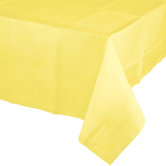 Tafelkleden geel 274 x 137 cm (bron: Feestwinkel Fun en Feest)
