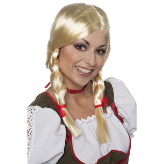 Tiroler pruik Greetje voor dames (bron: Feestwinkel Fun en Feest)