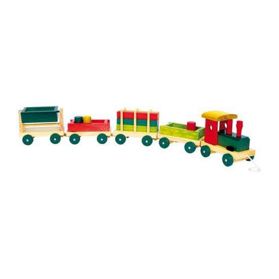 Transport treintje van hout
