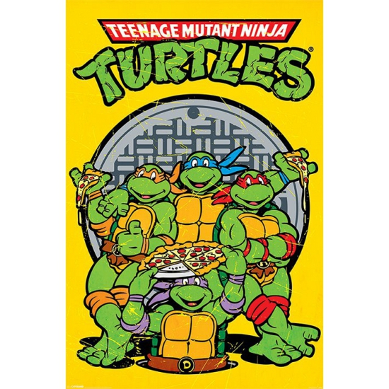 Turtles maxi poster 61 x 91,5 cm (bron: Feestwinkel Fun en Feest)