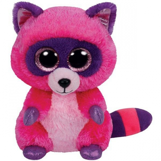 Ty Beanie knuffel roze wasbeer 15 cm (bron: Feestwinkel Fun en Feest)