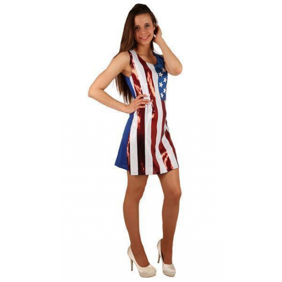 USA jurkje met pailletten (bron: Feestwinkel Fun en Feest)