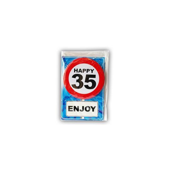 Verjaardagskaart 35 jaar (bron: Feestwinkel Fun en Feest)