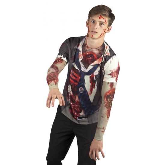 Verkleed zombie t-shirt (bron: Feestwinkel Fun en Feest)