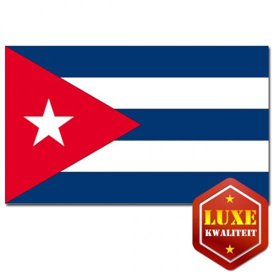Vlag Cuba zware kwaliteit (bron: Feestwinkel Fun en Feest)