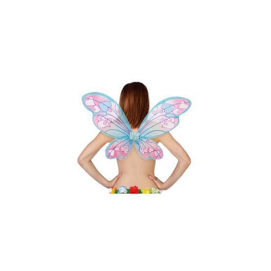 Vlinder vleugels met hartjes (bron: Feestwinkel Fun en Feest)