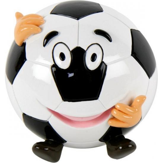 Voetbal spaarpot met gezicht (bron: Feestwinkel Fun en Feest)