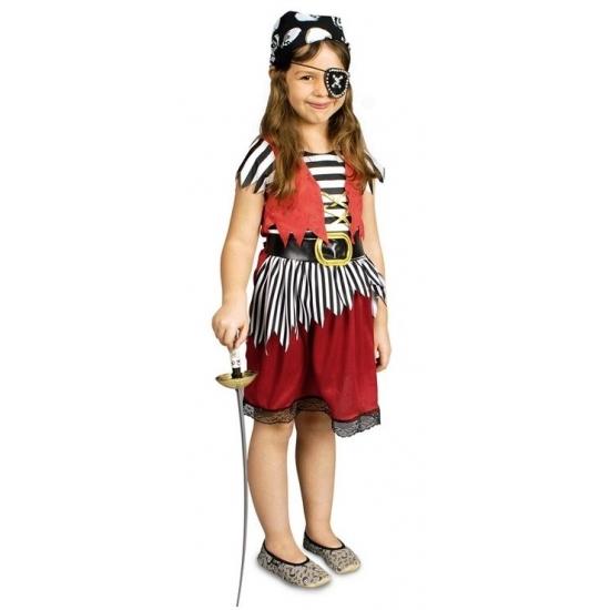 Voordelig piratenpakje voor meisjes (bron: Feestwinkel Fun en Feest)