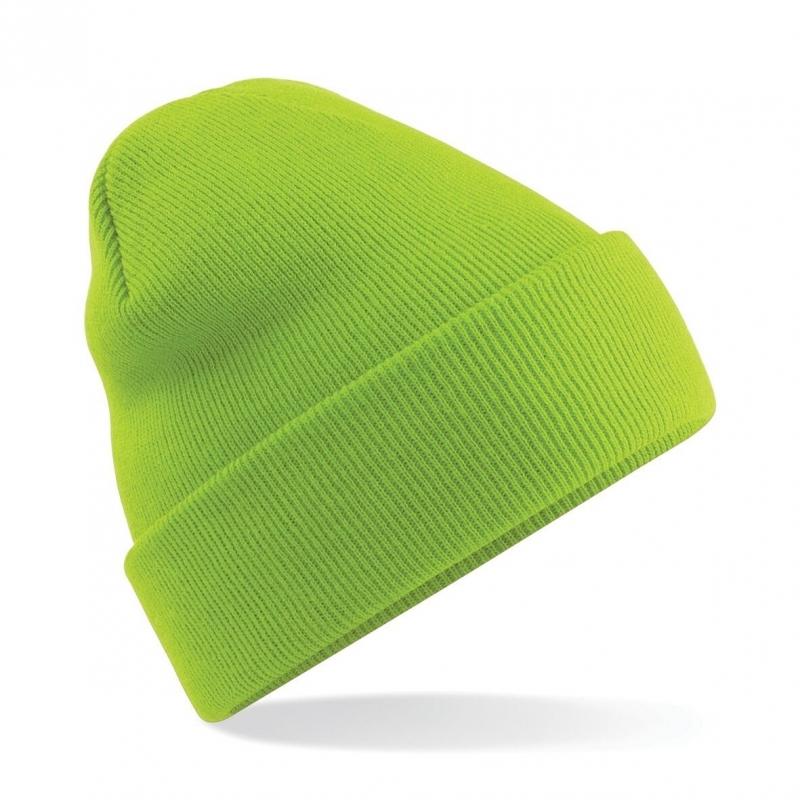 Warme gebreide muts in het Lime groen (bron: Feestwinkel Fun en Feest)