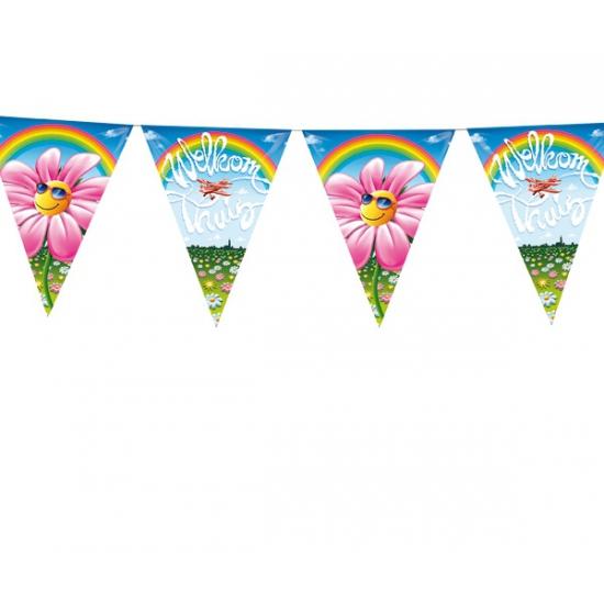 Welkom thuis vlaggenlijn (bron: Feestwinkel Fun en Feest)