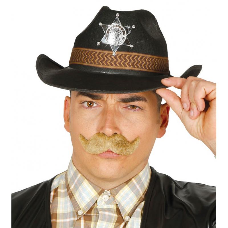 Western Sheriff hoed zwart voor mannen (bron: Feestwinkel Fun en Feest)