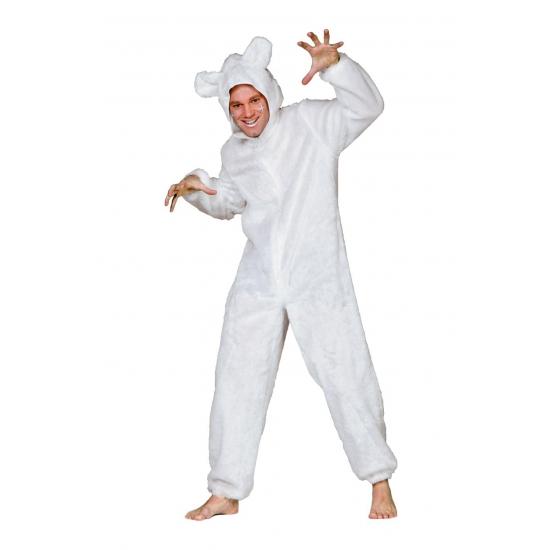 Wit ijsberen pak voor volwassenen (bron: Feestwinkel Fun en Feest)