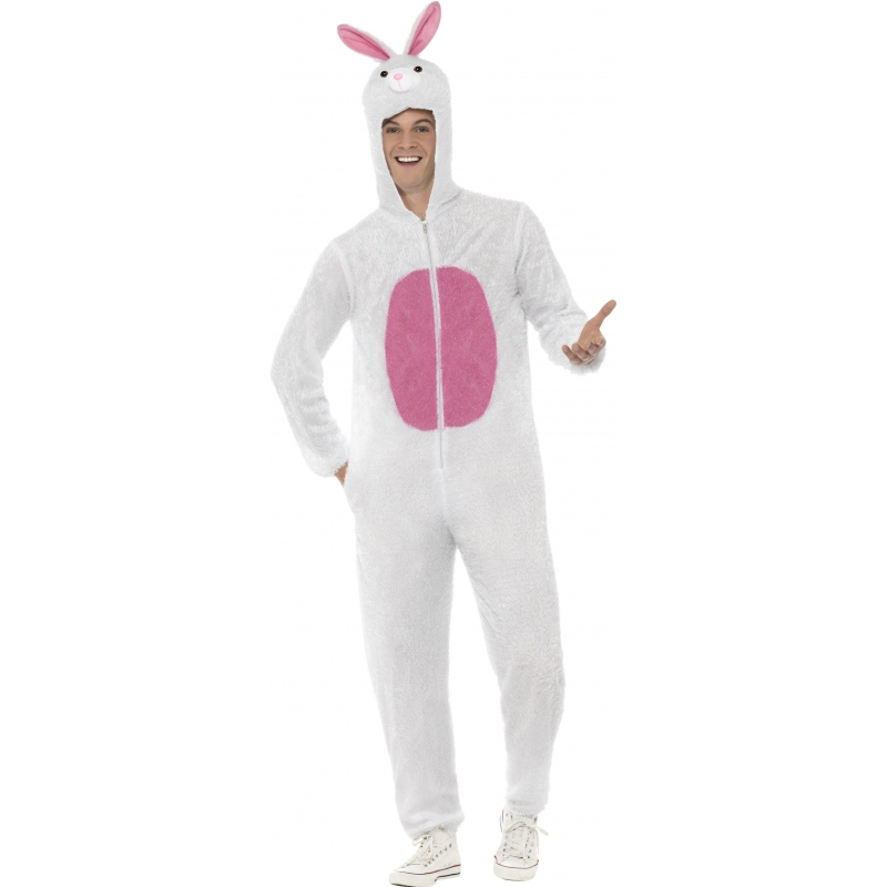 Wit konijnenpak volwassenen