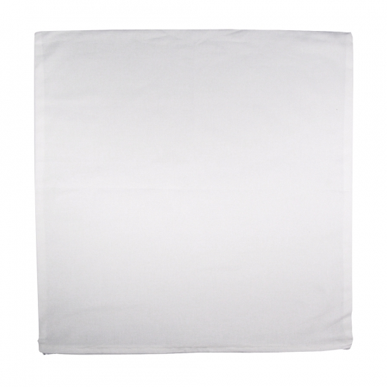 Wit kussensloop voor sierkussen 50 x 50 cm