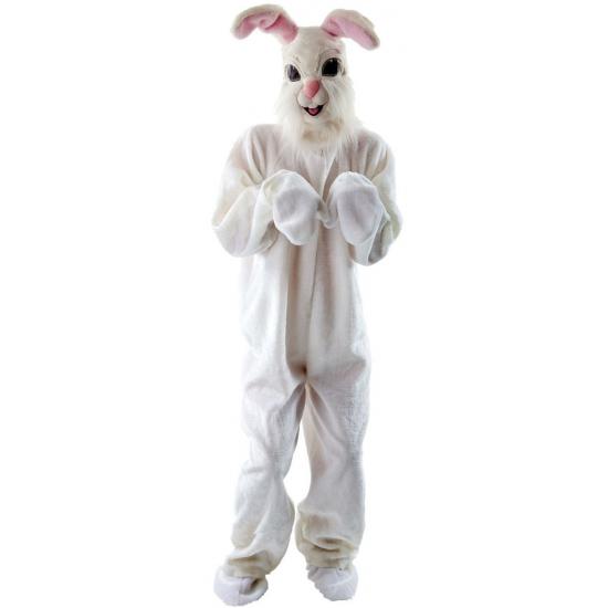 Wit paashaas kostuum deluxe