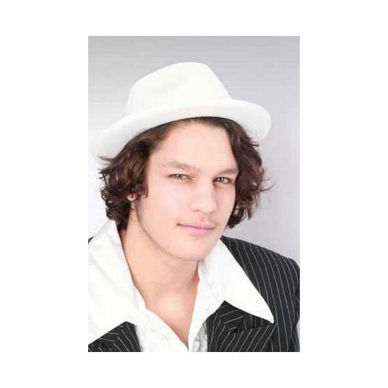 Witte kojak hoeden (bron: Feestwinkel Fun en Feest)