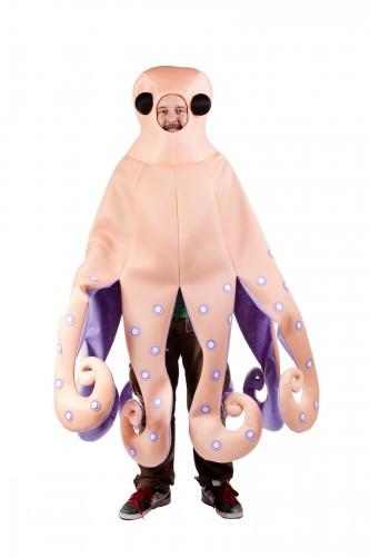 Zalmroze octopus kostuum voor volwassenen