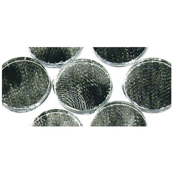 Zelfklevende mozaiek rond zilver (bron: Feestwinkel Fun en Feest)