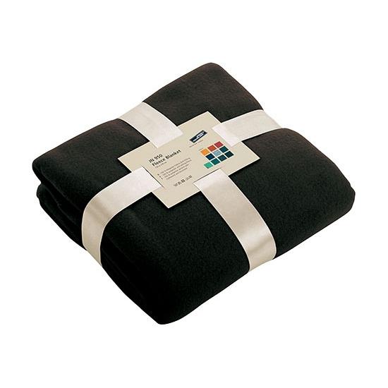 Zwart fleece deken (bron: Feestwinkel Fun en Feest)