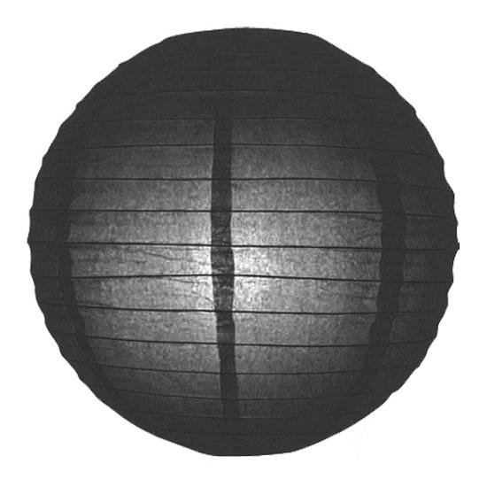 Zwarte lampion rond 25 cm (bron: Feestwinkel Fun en Feest)