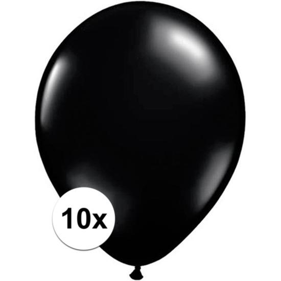 Zwarte Qualatex ballonnen 10 stuks