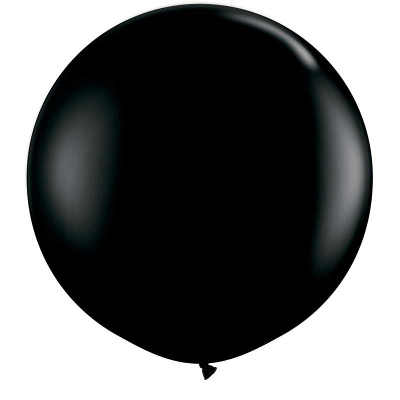 Zwarte Qualatex grote ballon 90 cm