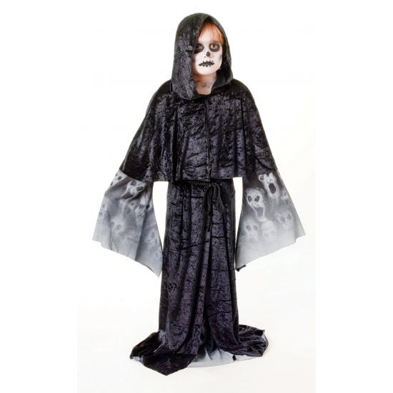 Zwarte zombie cape voor kinderen (bron: Feestwinkel Fun en Feest)