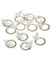 Bruiloft versiering ringen met duif