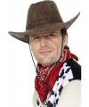 Suede look cowboy hoed bruin