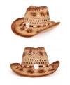 Ibiza strand hoed bruin