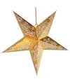 Decoratie ster goud 60 cm
