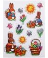 Decoratie stickers Pasen 13 stuks
