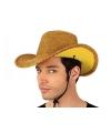 Gouden cowboyhoed voor volwassenen
